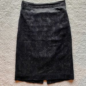 Worthington Lace Pencil Skirt Black Size 8